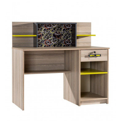 Bureau enfant gris contemporain en 120 cm de largeur collection Furness