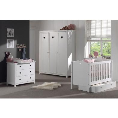 Chambre bébé complète blanc romantique en collection Herveld