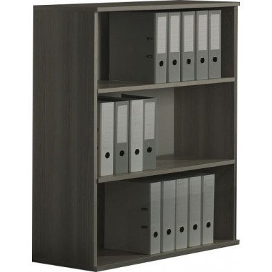 Meuble étagère gris contemporain L. 90 x P. 42 x H. 116 cm  collection Bioul