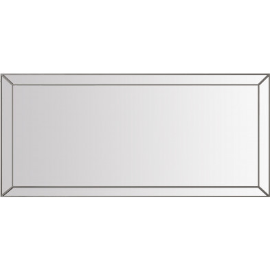 Miroir de salle à manger design en bois MDF en gris fumé 176.5 x 5 x 71.5cm collection LEXUS