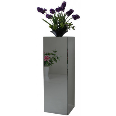 Table d'appoint design colonne en miroir anthracite L. 30 x P. 30 x H. 76 cm collection PALO