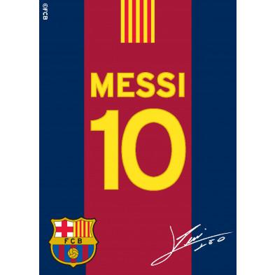Tapis enfant 95x133cm design Messi 10  collection Buzz