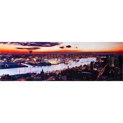 Tableau design magnifique coucher de soleil L. 140 x H. 45 cm collection Najwa