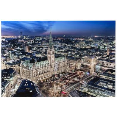 Tableau design magnifique vue ville hambourg L. 140 x H. 100 cm collection Audrick