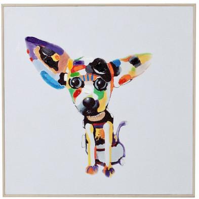 Tableau moderne en toile motif chihuahua 50 cm collection Berkelmans