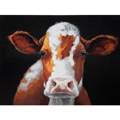 Tableau moderne en toile motif vache 120 cm collection Hollow