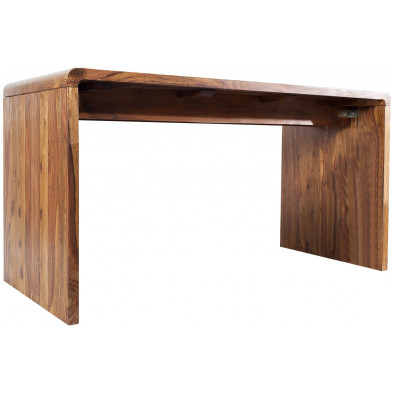 Bureau design en bois massif coloris naturel L. 150 x H. 80 cm collection Soutodacasa