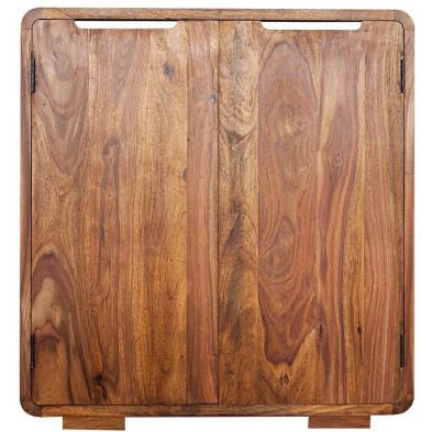 Meuble bar contemporain en bois massif coloris naturel L. 90 x H. 100 cm collection Soutodacasa