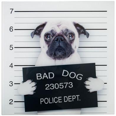Tableau design magnifique bad dog L. 40 x H. 40 cm collection Llansoy