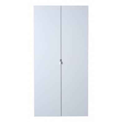 Armoire adulte argenté design en panneaux de particules de haute qualité L. 101 x P. 54 x H. 208 cm collection Gigliola