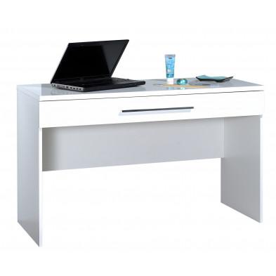 Bureau blanc design L. 120 x P. 50 x H. 75 cm collection Gigliola