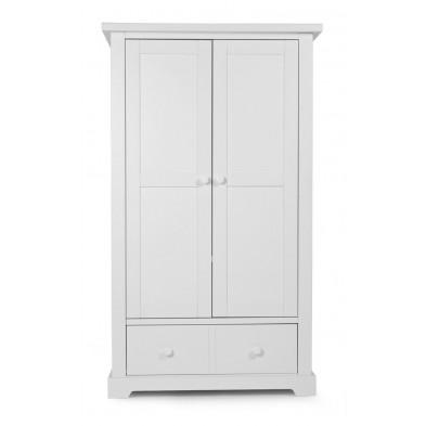 Armoire pour bébé rustique blanc en bois MDF et panneaux de particules de haute qualité L. 108 x P. 54 x H. 185 cm Collection Ermenegildo