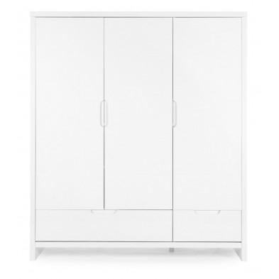 Armoire pour bébé design blanc en bois MDF L. 161 x P. 58 x H. 185 cm Collection Thomasburg