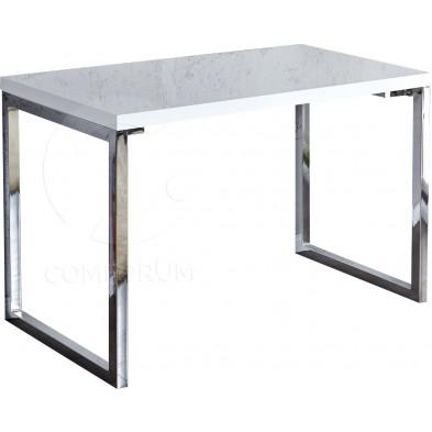 Bureau Design rectangle blanc laqué 120x75cm collection Langlingen