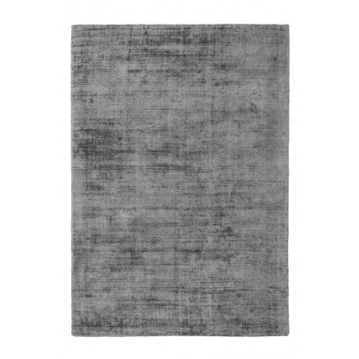 Tapis argenté design en viscose avec des motifs uni L. 170 x P. 120 x H. 0,9 cm Collection Jacintha