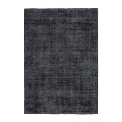 Tapis design gris en viscose avec des motifs uni L. 290 x P. 200 x H. 0,9 cm Collection  Jacintha