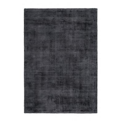 Tapis design gris en viscose avec des motifs uni L. 150 x P. 80 x H. 0,9 cm Collection Jacintha