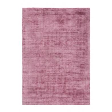 Tapis design rose en viscose avec des motifs uni L. 150 x P. 80 x H. 0,9 cm Collection Jacintha