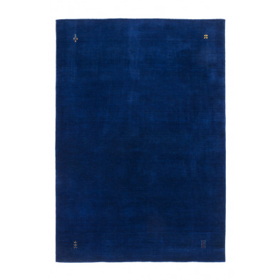 Tapis vintage tissé à la main en laine coloris bleu L. 290 x P. 200 x H. 1,3 cm Collection  Geraldino