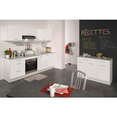 Cuisine complète moderne blanc en panneaux de particules de haute qualité Collection Crashed