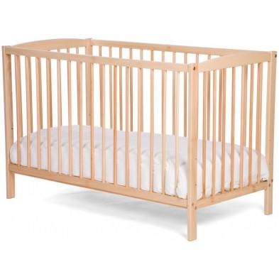 Lit bébé classique beige en bois massif hêtre 60x120cm Collection Bardin