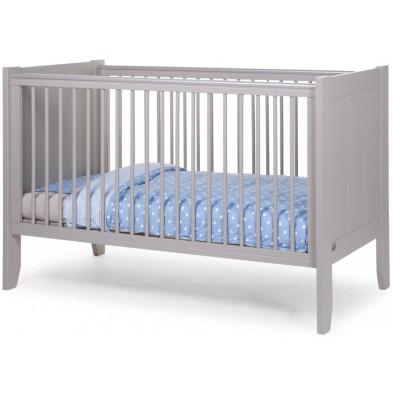 Lit bébé évolutif moderne gris en bois MDF et panneaux de particules de haute qualité 70x140cm Collection Tiano