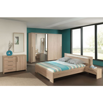 Chambre adulte complète marron contemporain collection Vanoostende
