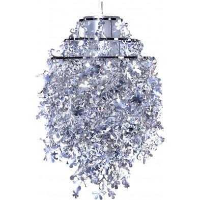 Lustre suspension design 77 cm en Polypropylène coloris argenté collection Vanhilten