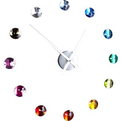 Horloge murale chic 12 cristaux multicolore collection Flierman