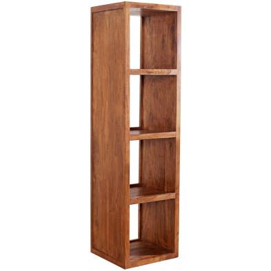 Bibliothèque contemporaine en bois massif coloris naturel L. 40 x P. 40 x H. 150 cm collection Loiu