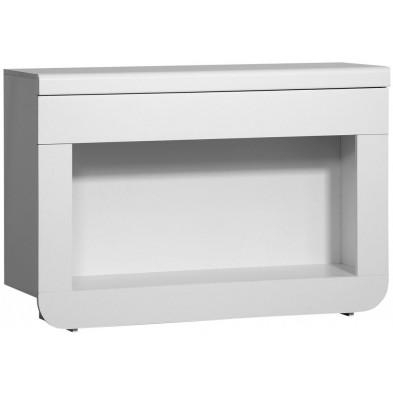 Consoles blanc design en bois mdf L. 120 x P. 36 x H. 81 cm collection Jessie