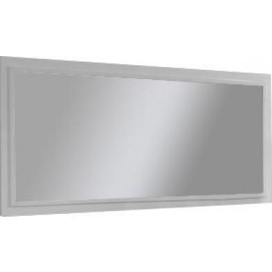 Miroir mural blanc design en bois mdf L. 180 x P. 4 x H. 82 cm collection Wake