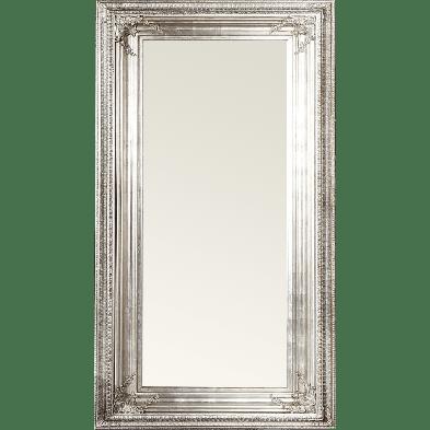 Miroir mural argenté moderne en bois massif L. 85 x H. 180 cm collection Zoet