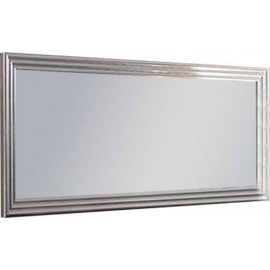 Miroir mural gris design L. 189 x H. 85 cm collection Regen