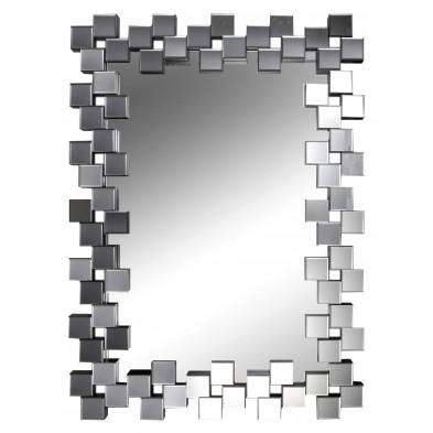 Miroir mural argenté design L. 85,5 x P. 4,7 x H. 120 cm collection Fiyako
