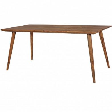 Table en bois rustique en bois massif gris  L. 180 x P. 80 x H. 76 cm collection Seck