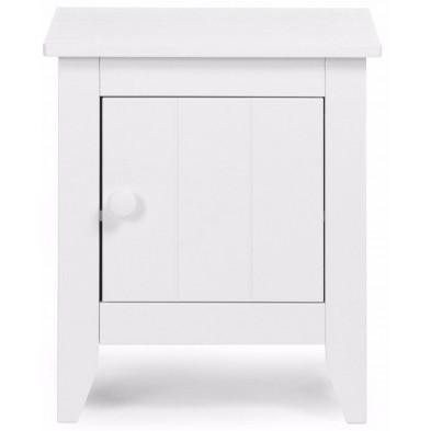 Chevet enfant moderne blanc en bois MDF L. 49 x P. 39 x H. 55 cm Collection Hattan
