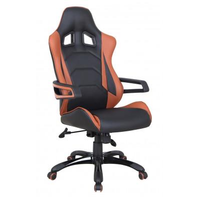 Chaise et fauteuil de bureau design marron en mousse H. 120 à 130 cm Collection Fimme