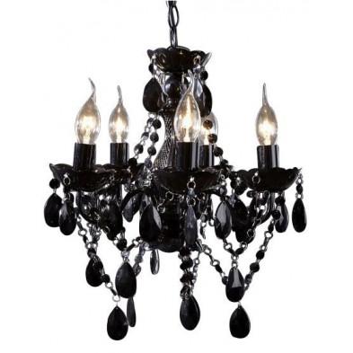 Lustre ultra design à 5 lumières coloris noir L. 37 x P. 37 x H. 41 cm collection Stornara