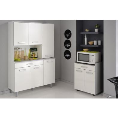 Cuisine complète moderne blanc et gris en panneaux de particules de haute qualité Collection Anabel