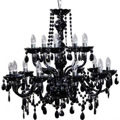 Lustre ultra design à 15 lumières coloris noir L. 51 x P. 25 x H. 75 cm collection Ray