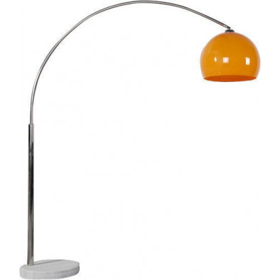 Lampadaire 205 cm en acier chromé extensible coloris orange collection Crobhands