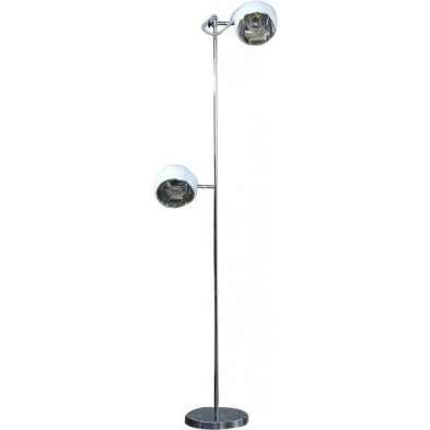 Lampadaire blanc design en acier H. 164 cm collection Lazlo