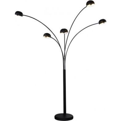 Lampadaire à 5 arcs modulable en métal coloris noir 205 cm collection Consort