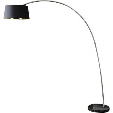 Lampadaire design arc extensible 205 cm coloris noir et or collection Vannorel