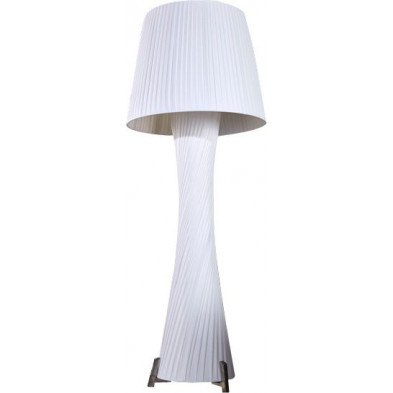 Lampadaire colonne design 190 cm coloris blanc collection Fairoak