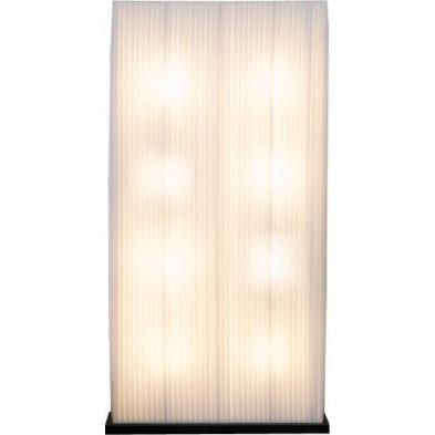 Lampadaire colonne rectangulaire L. 85 x P. 25 x H. 170 cm design coloris blanc  collection