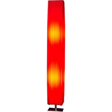 Lampadaire colonne L. 15 x P. 15 x H. 120 cm coloris rouge collection Skeabost
