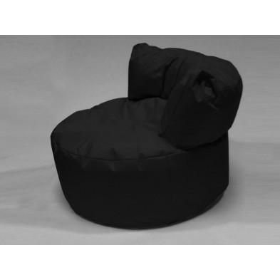 Repose-pied et pouf noir L. 96 x P. 96 x H. 75 cm collection Stlouis