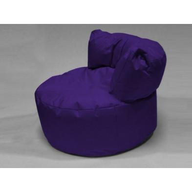 Repose-pied et pouf violet L. 96 x P. 96 x H. 75 cm collection Stlouis